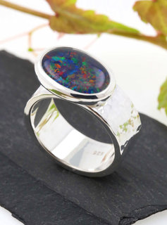"""Ring """"New Creations"""" Silber Opaltriplette"""