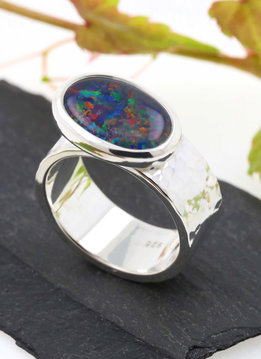 "Ring ""New Creations"" Silber Opaltriplette"