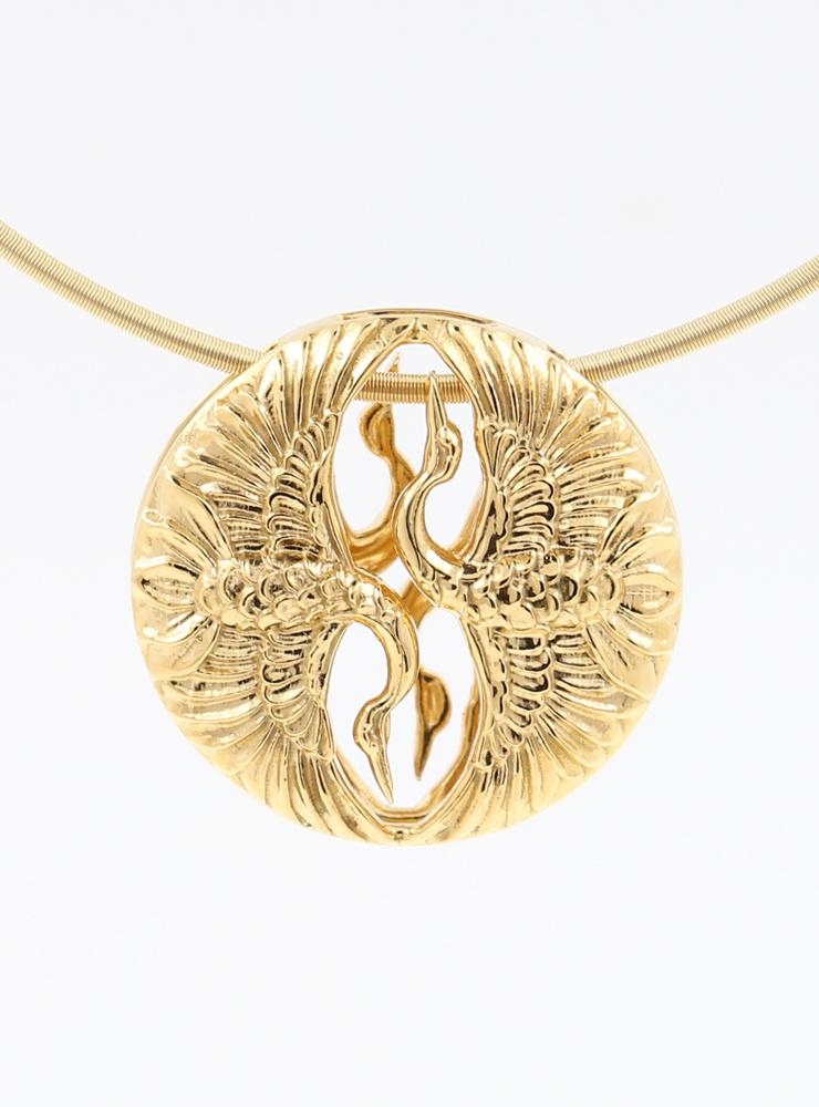 Tanz der Kraniche: Anhänger aus 925er Silber vergoldet Variante 2