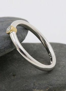 """Ring """"Ringlein 1"""" Bicolor Diamant"""