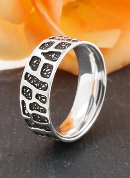Ring Camouflage Silber