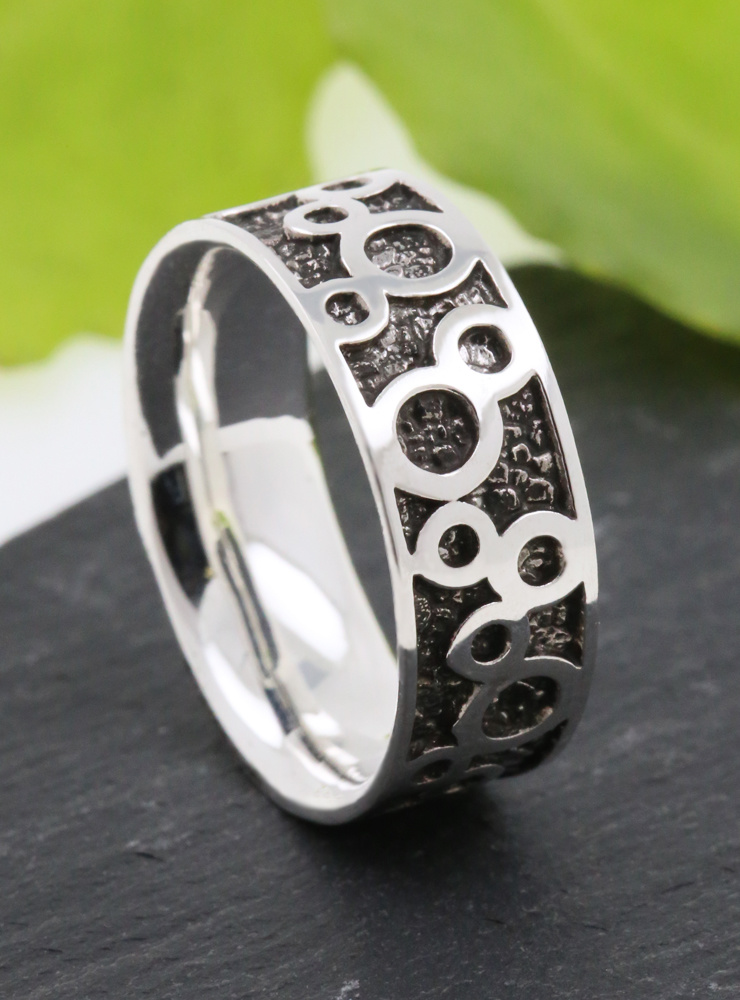 Ring Bubbles Silber