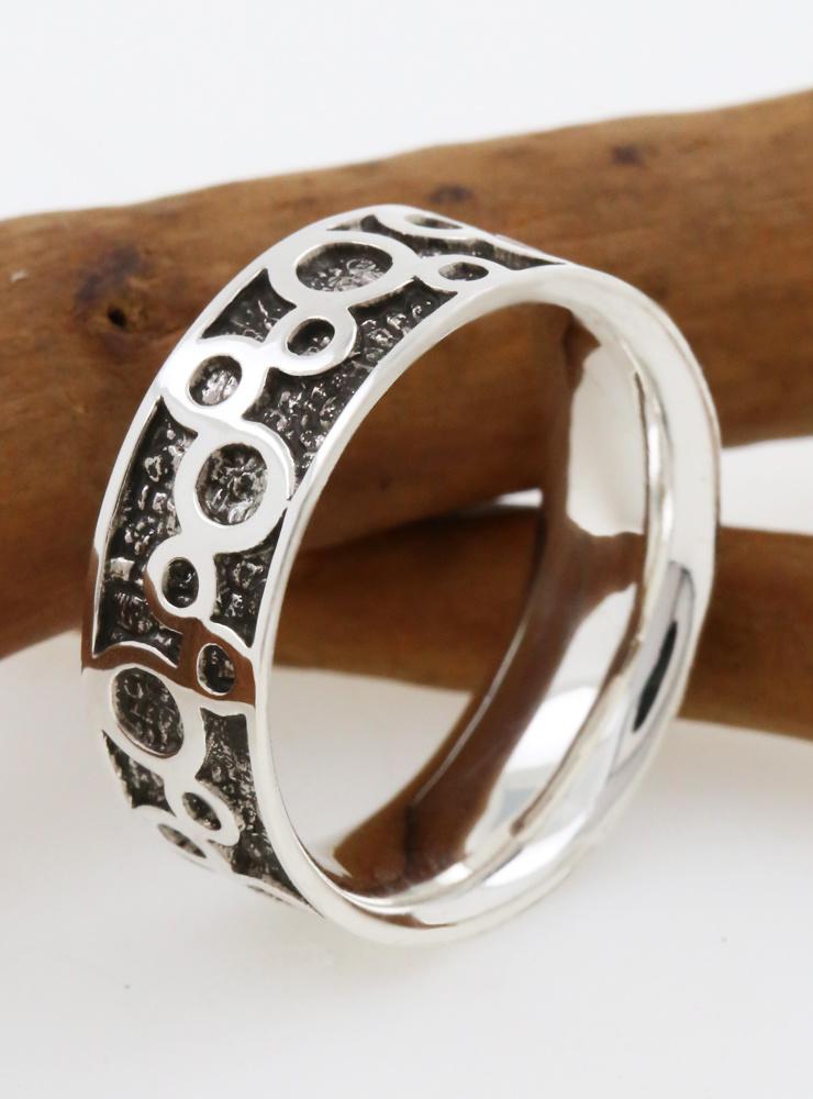 Bubbles: Ring aus 925er Silber