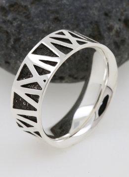 Ring Mikado Silber