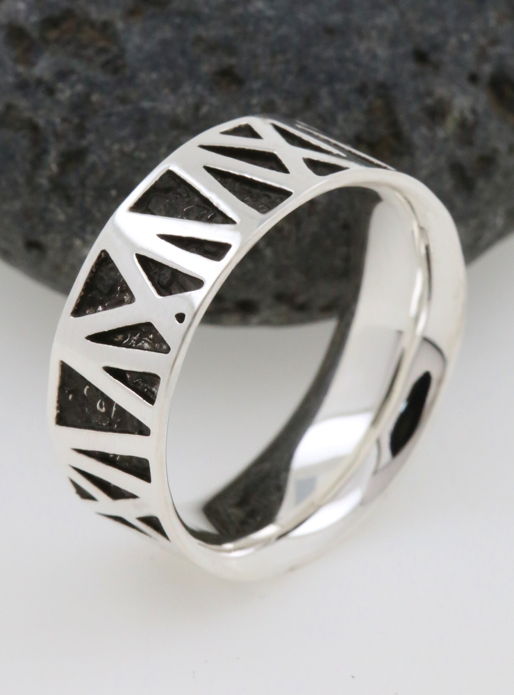 Mikado: Ring aus 925er Silber