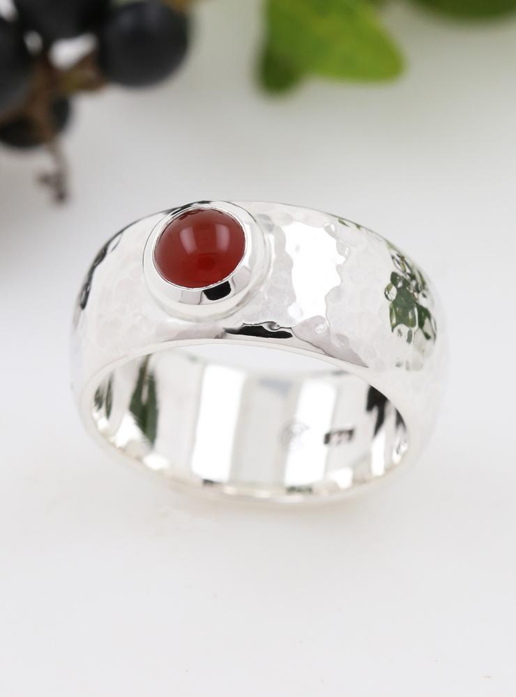 Ring King Arthur Silber Carneol