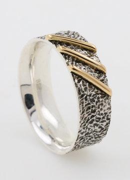 Ring 3 Streifen Bicolor