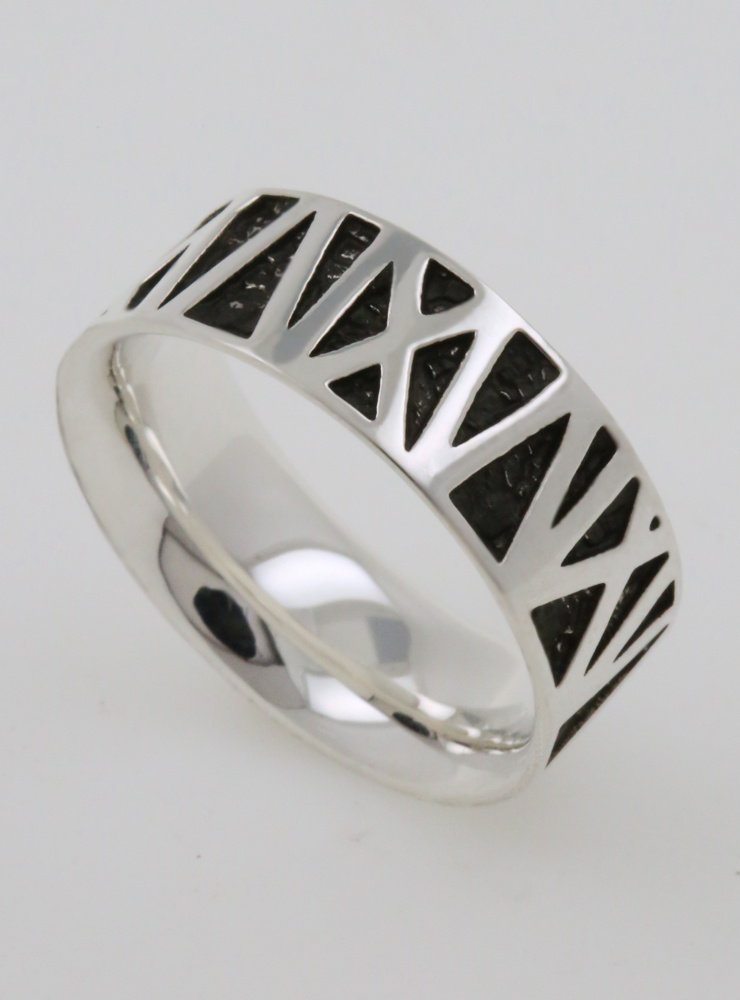 Mikado: Partnerring aus 925er Silber