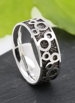Partnerring Bubbles Silber