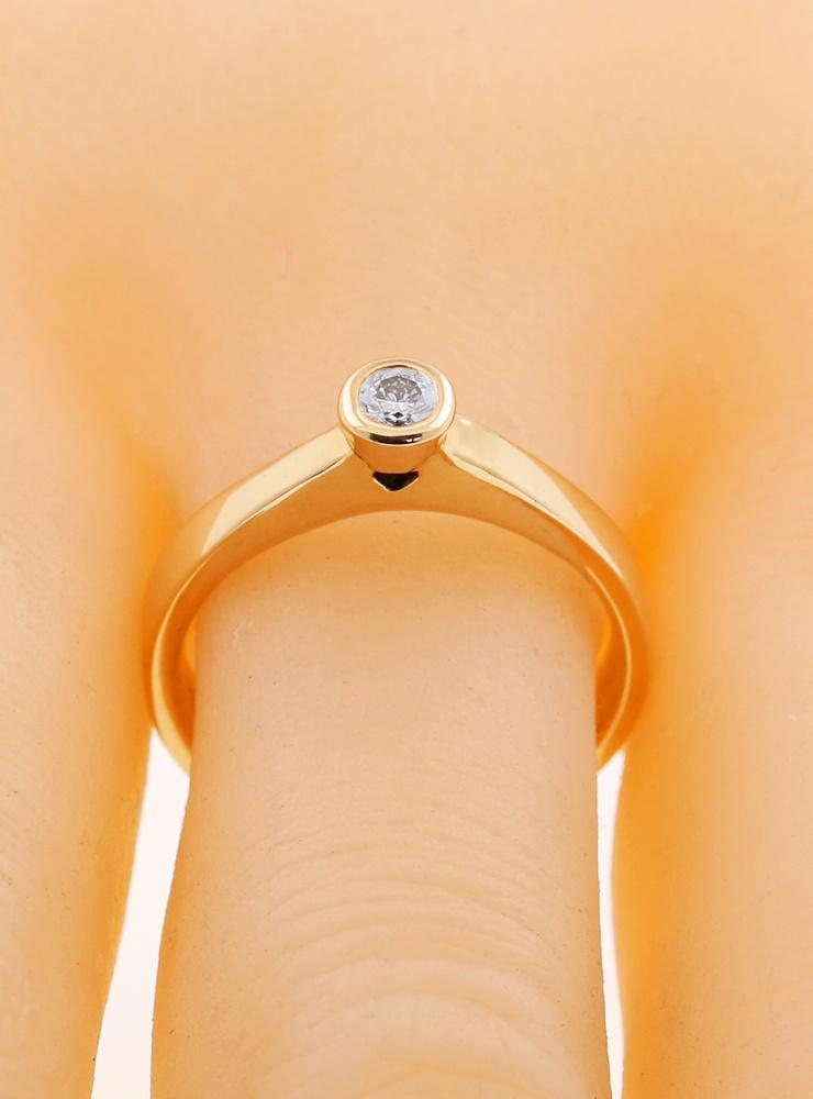 Judith: Verlobungsring aus 750er Gelbgold und Diamant