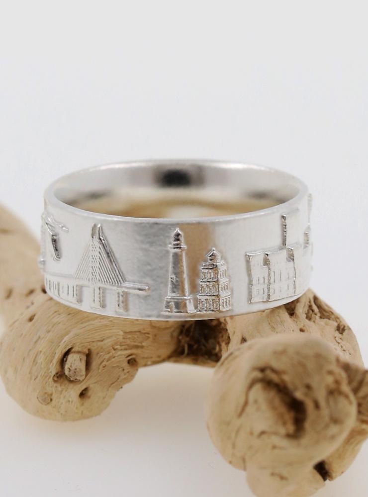 Rügen Ring schmal aus 925er Silber