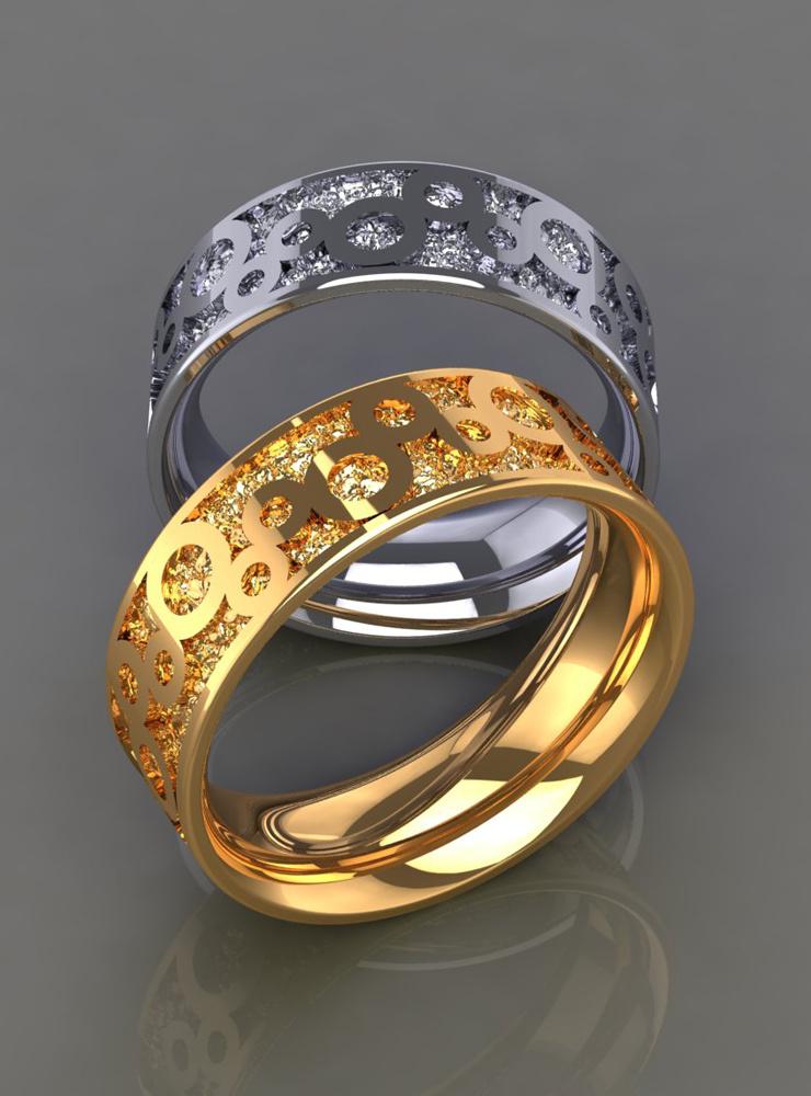 Bubbles: Ehering aus 750er Weißgold