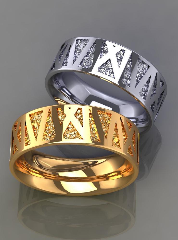 Mikado: Ehering aus 750er Weißgold