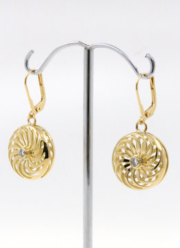 Rügen-Ohrringe Gold Diamant
