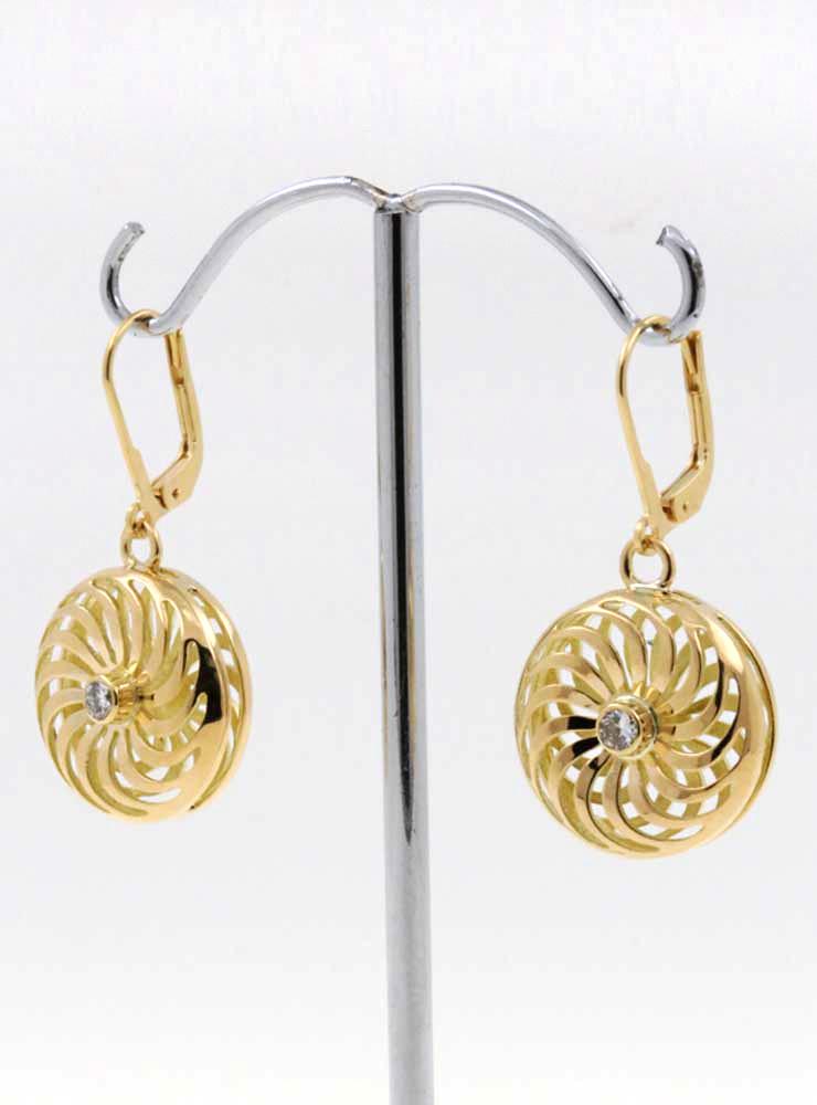 Rügen-Ohrringe aus 750er Gelbgold und Diamant