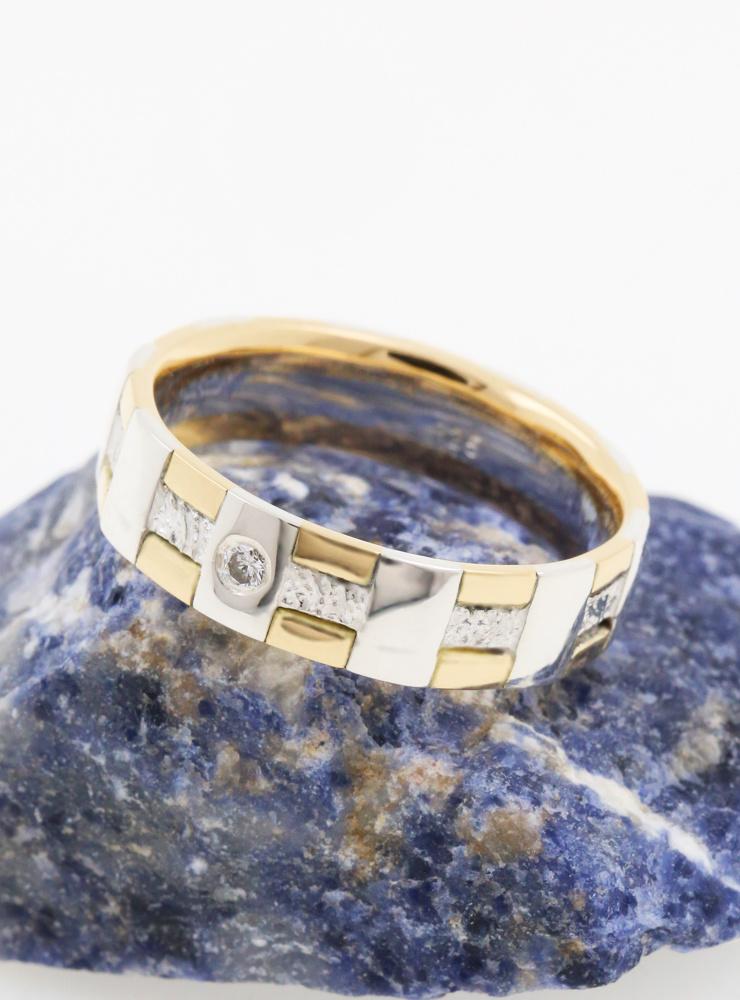 Ehering Tatami Bicolor Diamant