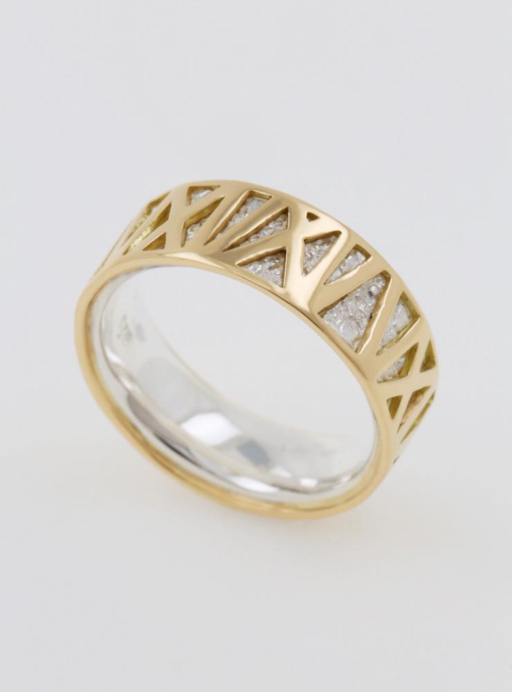 Ring Mikado Bicolor Weißgold Gelbgold