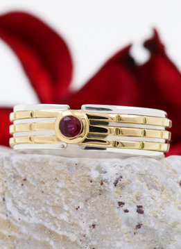 Ring Empire Bicolor Rubin