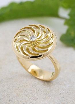 Rügen-Ring Gold Diamant