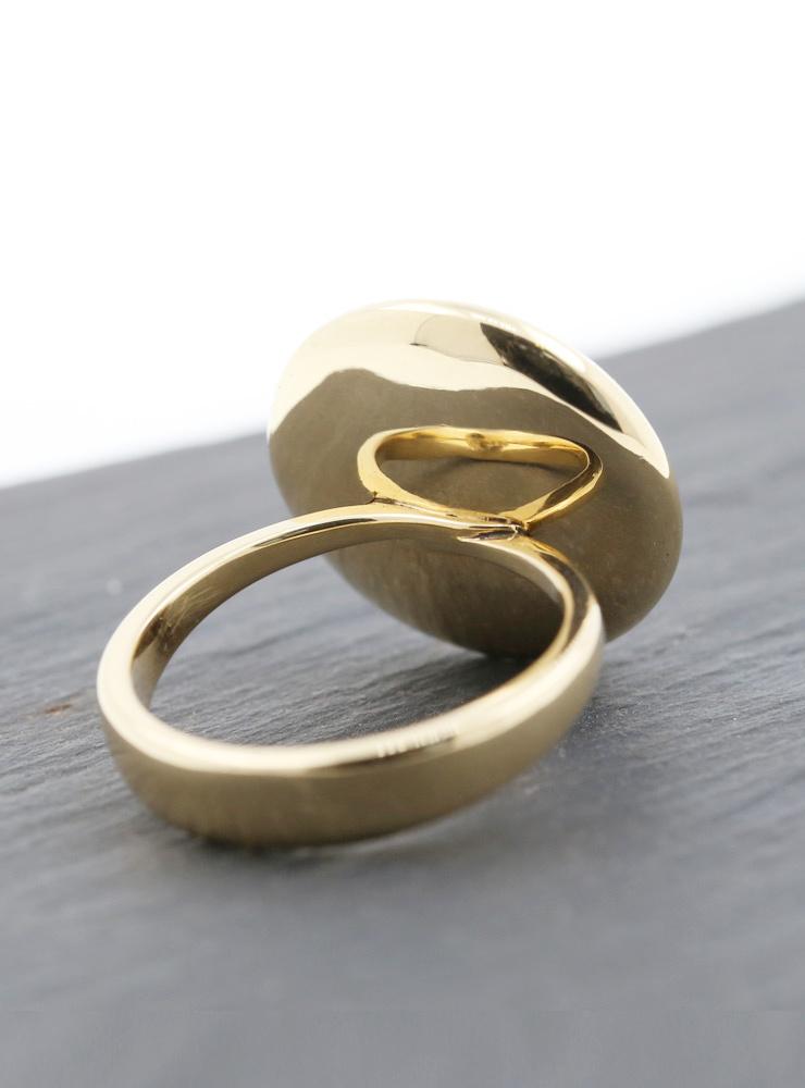 Rügen-Ring aus 750er Gelbgold und Diamant