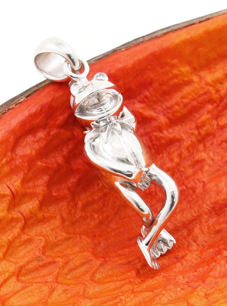 Silber-Frosch: Anhänger aus 925er Silber