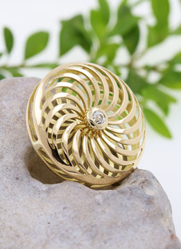 Rügen-Anhänger Gold Diamant
