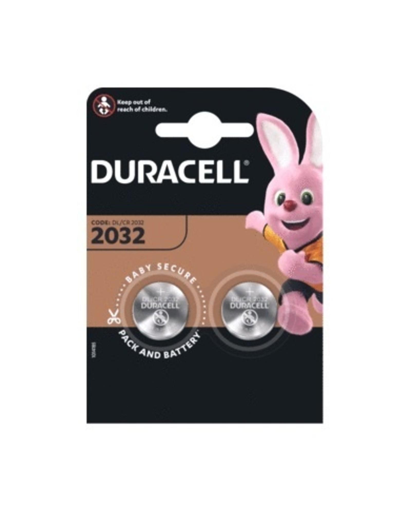 Duracell 3 Volt DR2032 knoopcel reserve batterij
