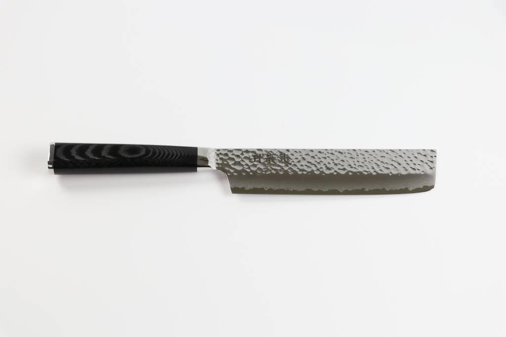 RYUSEN TANGANRYU Micarta Black Nakiri 165 mm TG-505
