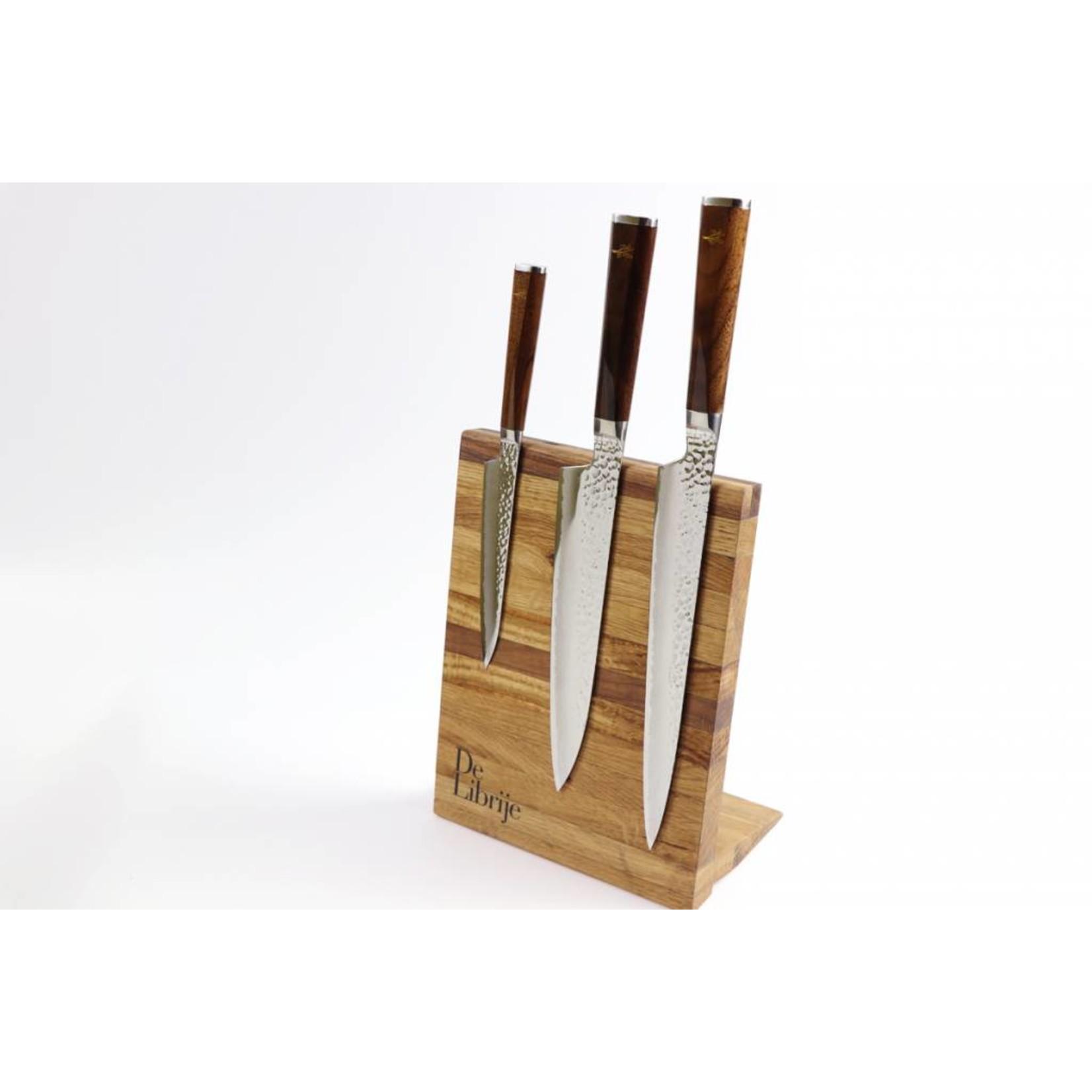 RYUSEN Jonnie Boer Walnut messen set ( 3 items ) TG JB 702 + TG JB 707 + TG JB 710 incl. Magnet