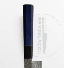 Takayuki 45 Damascus Indigo Blue Heft Gyuto 210 mm