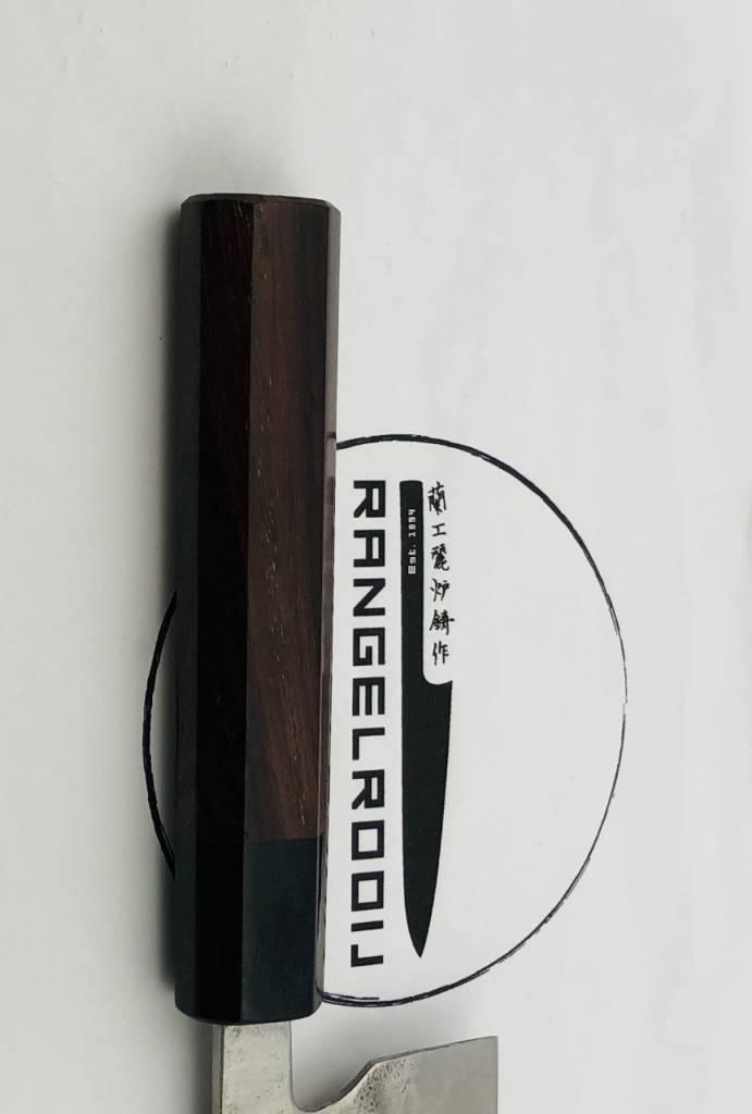 Fujiwara Maboroshi Santoku 180 mm Rosewood WA handle