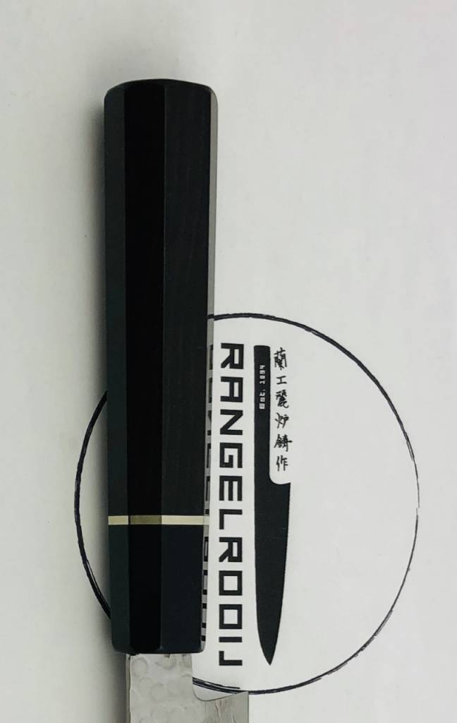 Takayuki 45 Layers Hammered Sujihiki 220 mm with custom ebony wa handle