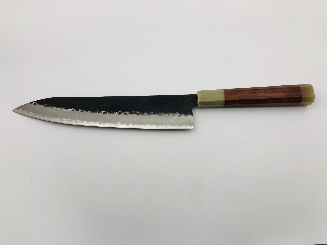 Custom David 240 mm gyuto AS+ 3 layers stainless kurouichi