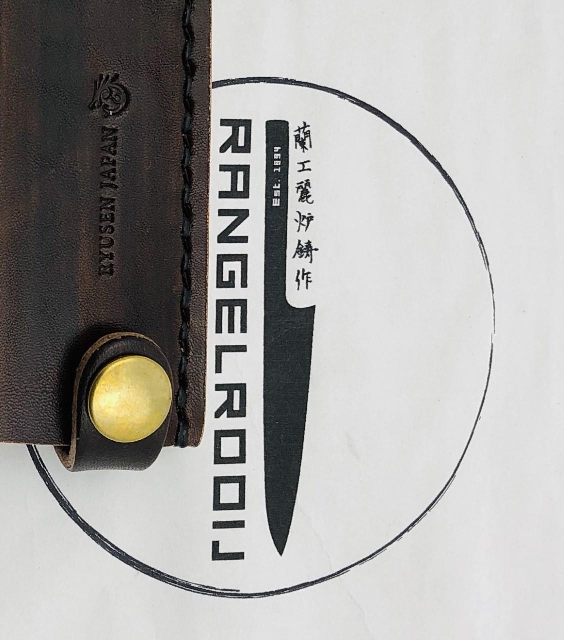 RYUSEN leather sheath LS-207 135 mm petty Brown