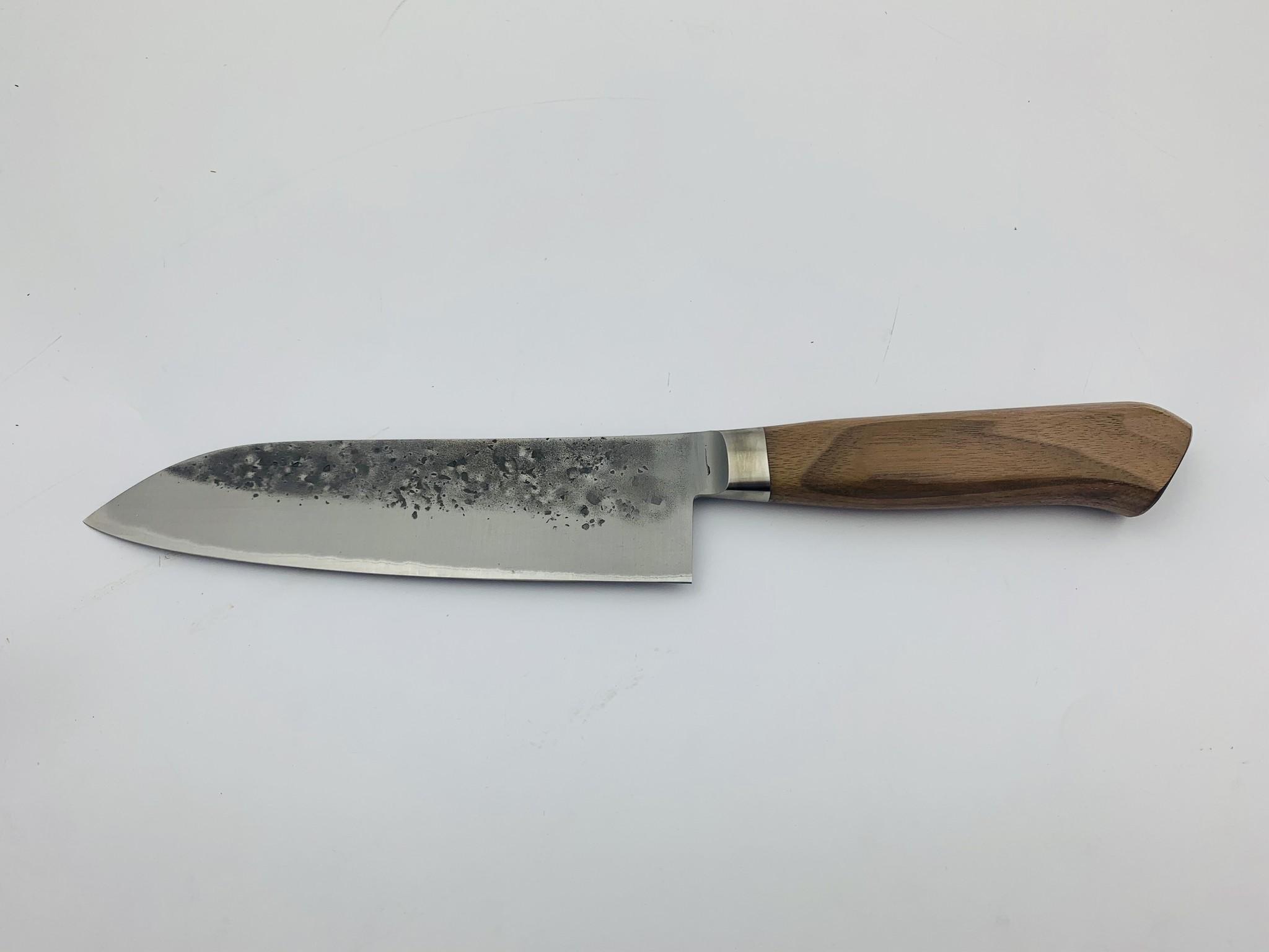 Tadafusa Aogami #2 Walnut handle Santoku 170 mm TFSA170NW