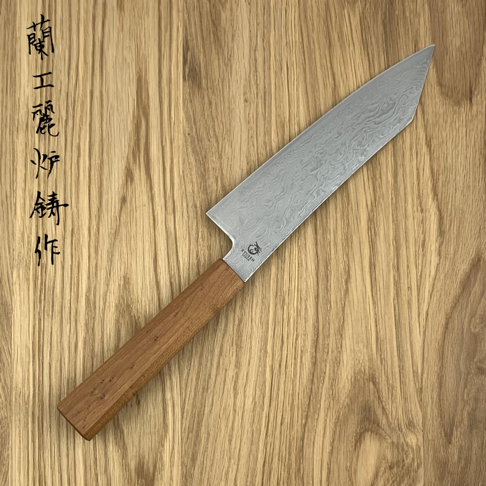 RYUSEN Fukakuryu Maple WA Santoku 170 mm FK-303