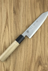 Kikuichi Kokaji Petty White Carbon 150 mm Mag/Ovaal Handle With Saya