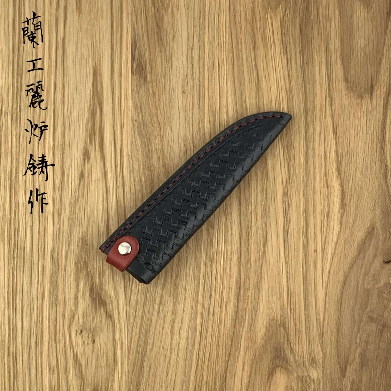 RYUSEN leather sheath LS-107 135 mm petty Black