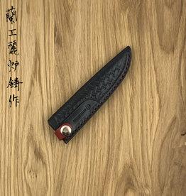 Leather  LS-107 135 mm petty Black