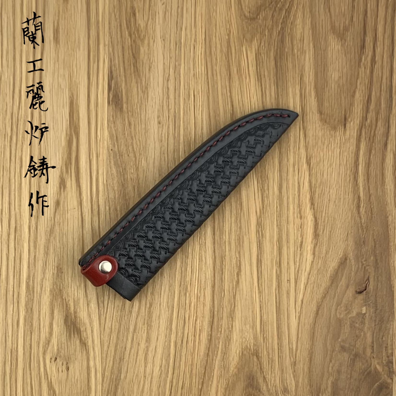 RYUSEN leather sheath LS-106 150mm petty Black