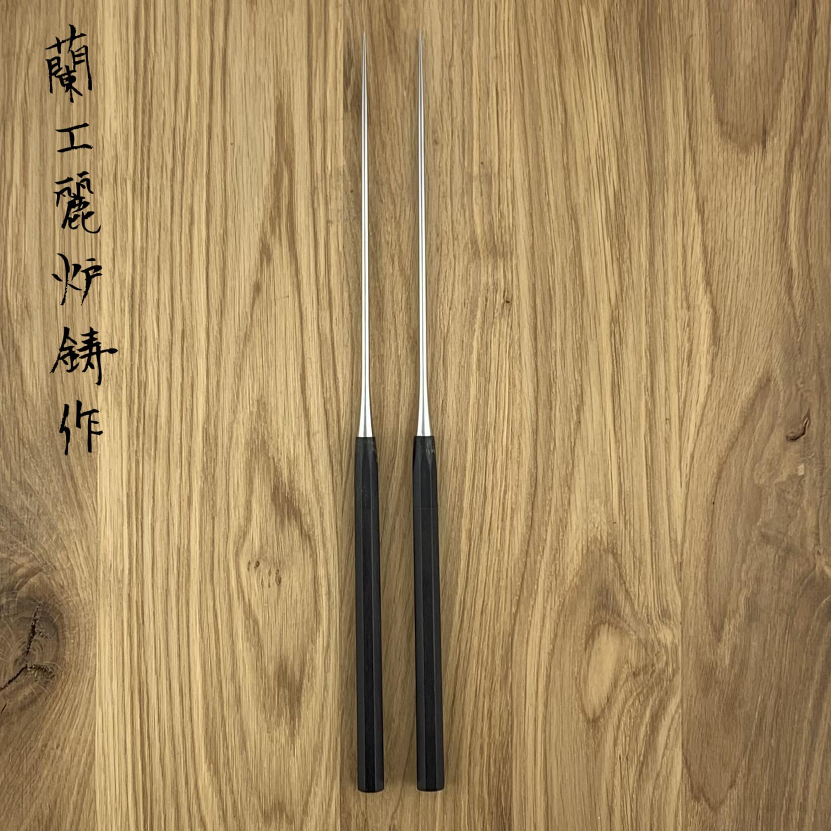 TAKAYUKI ebony chopsticks 180 mm Moribashi 09016