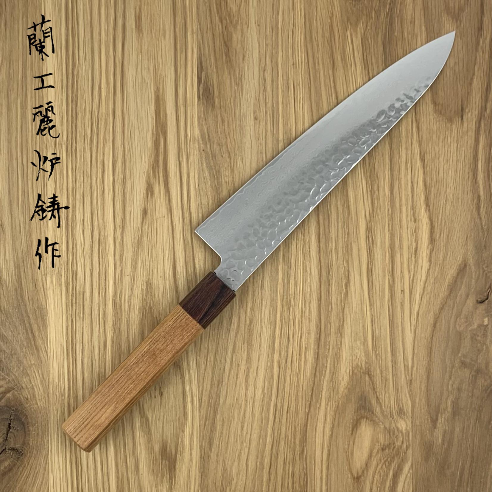 SAKAI TAKAYUKI 33 laags gehamerd Gyuto 210 mm Zelkova Japans heft  07475