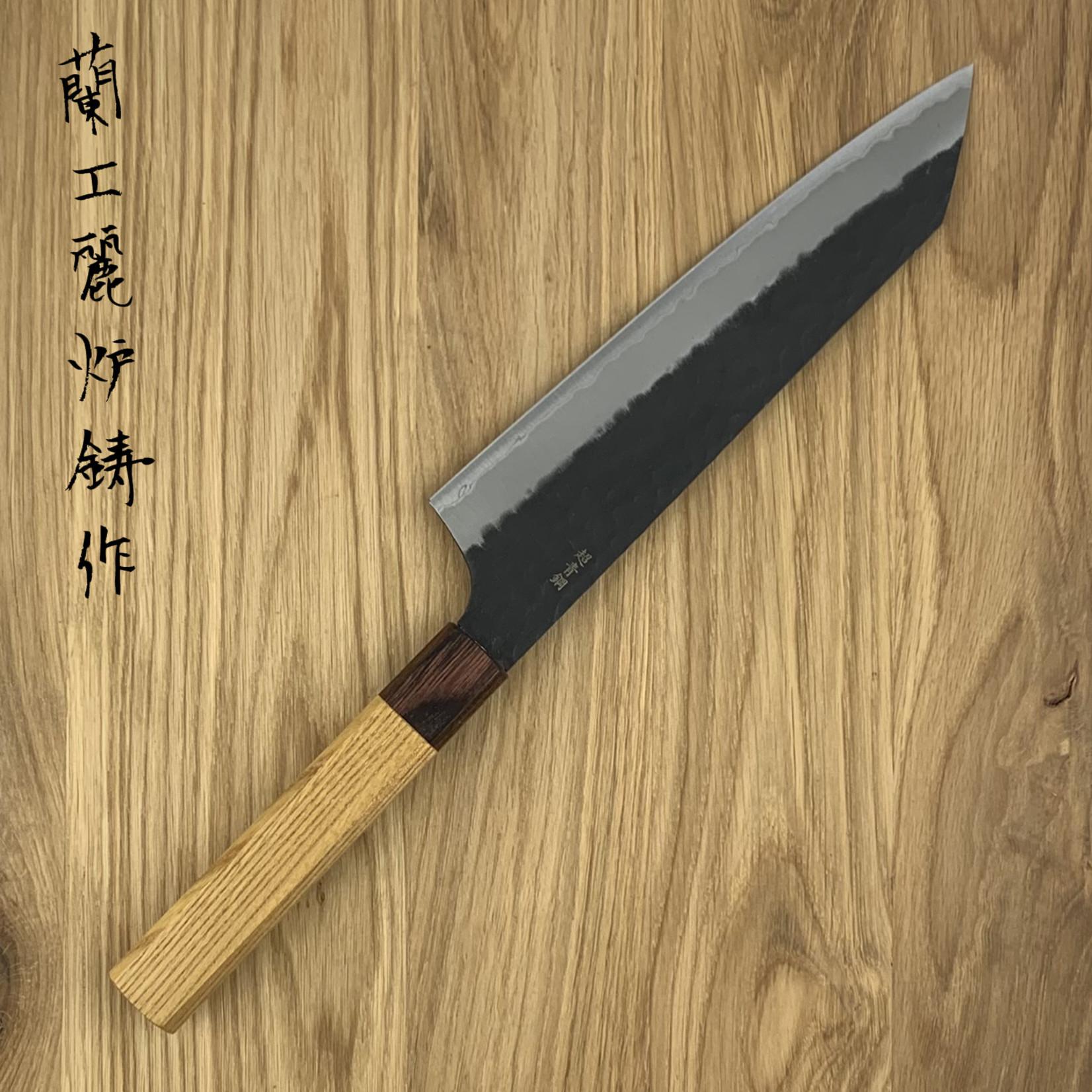 SAKAI TAKAYUKI Kengata 190 mm 3 layers hammered AS+ Zelkova 01192