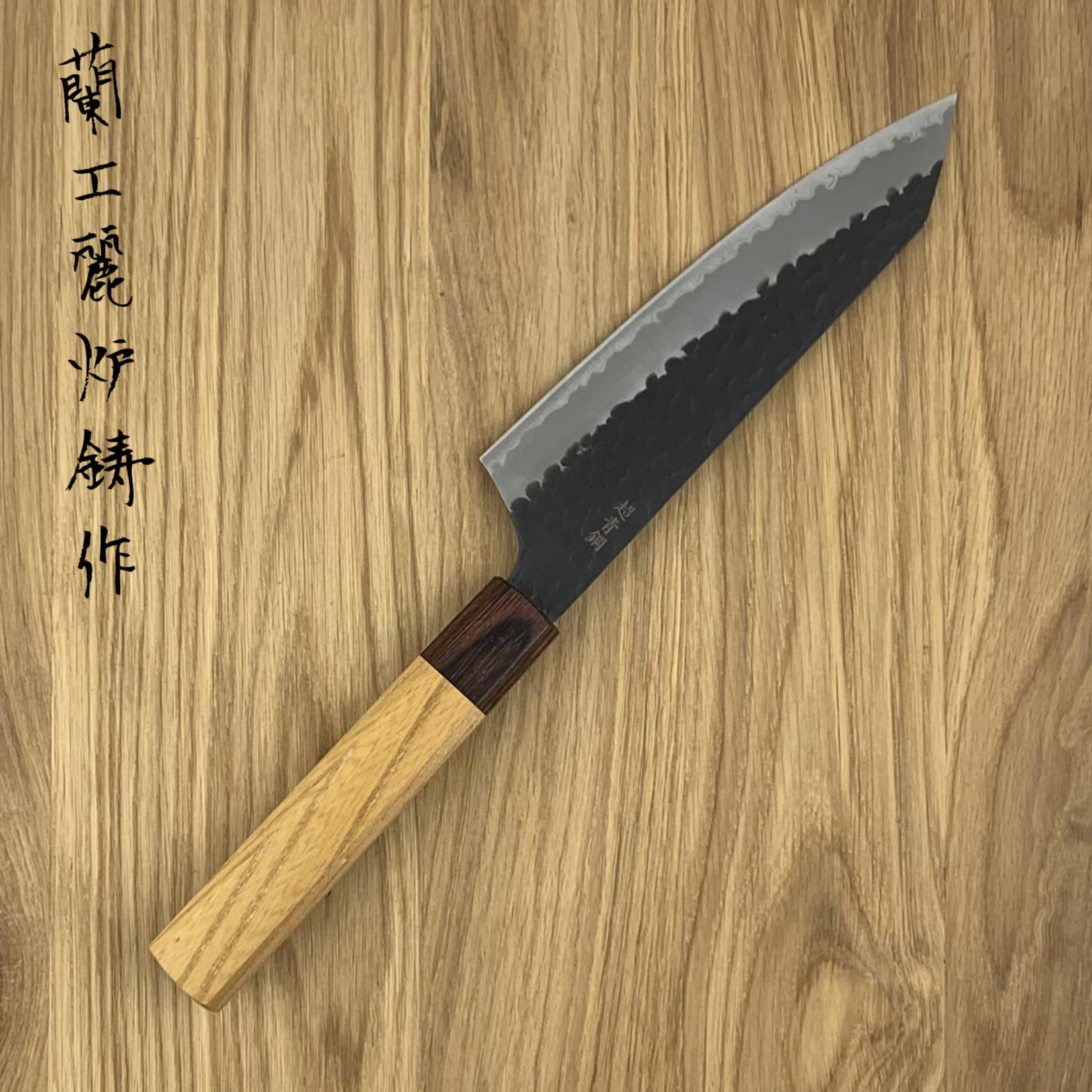 SAKAI TAKAYUKI Kengata 160 mm 3 layers hammered AS+ Zelkova 01191