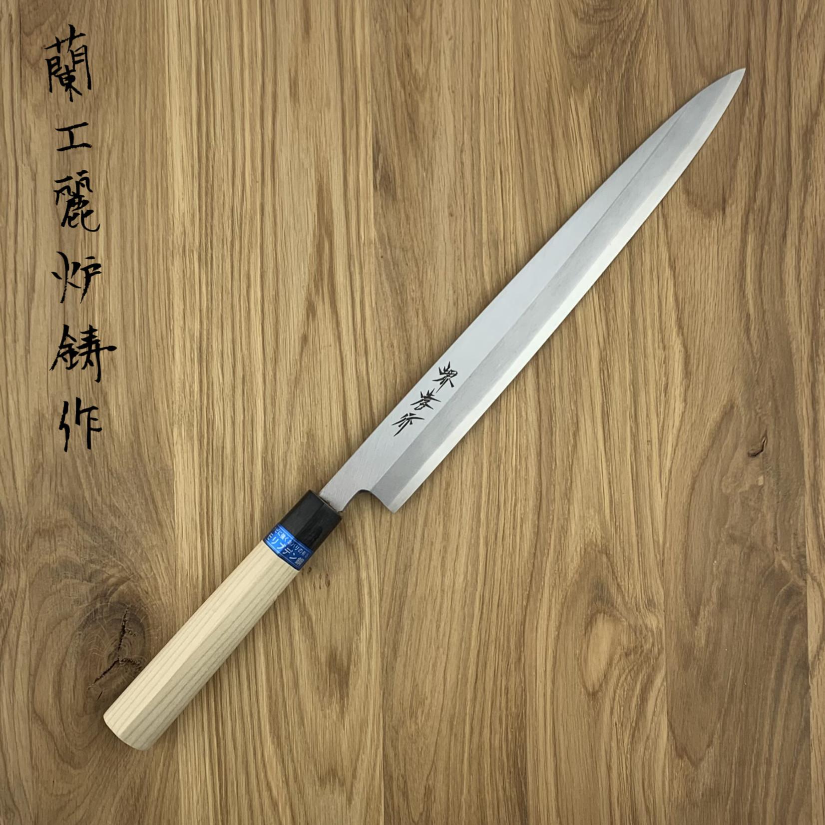 SAKAI TAKAYUKI Inox Japanese Stainless Magnolia Heft Yanagiba 300 mm 04305