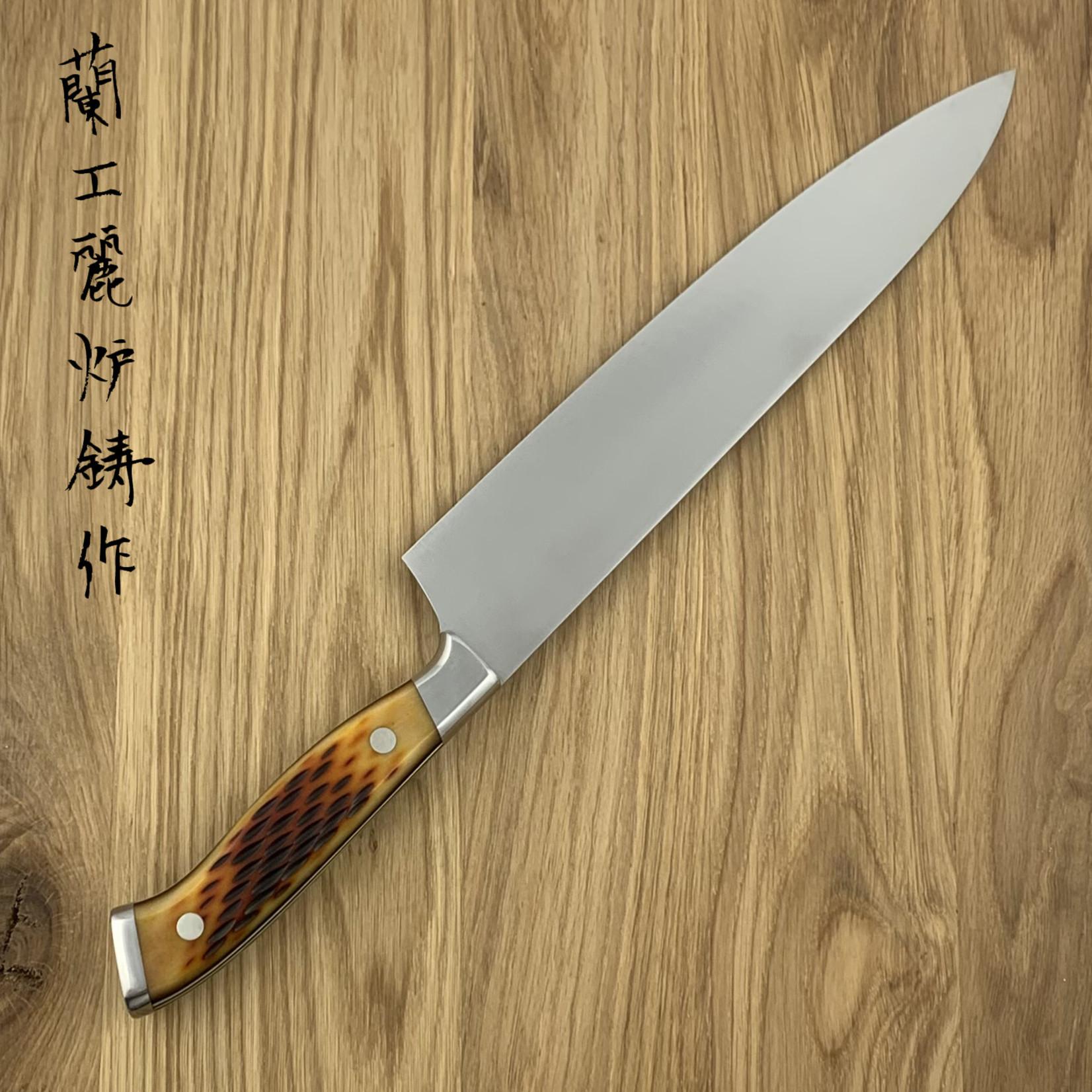 NENOHI NENOX Premium amber gyuto 210 mm