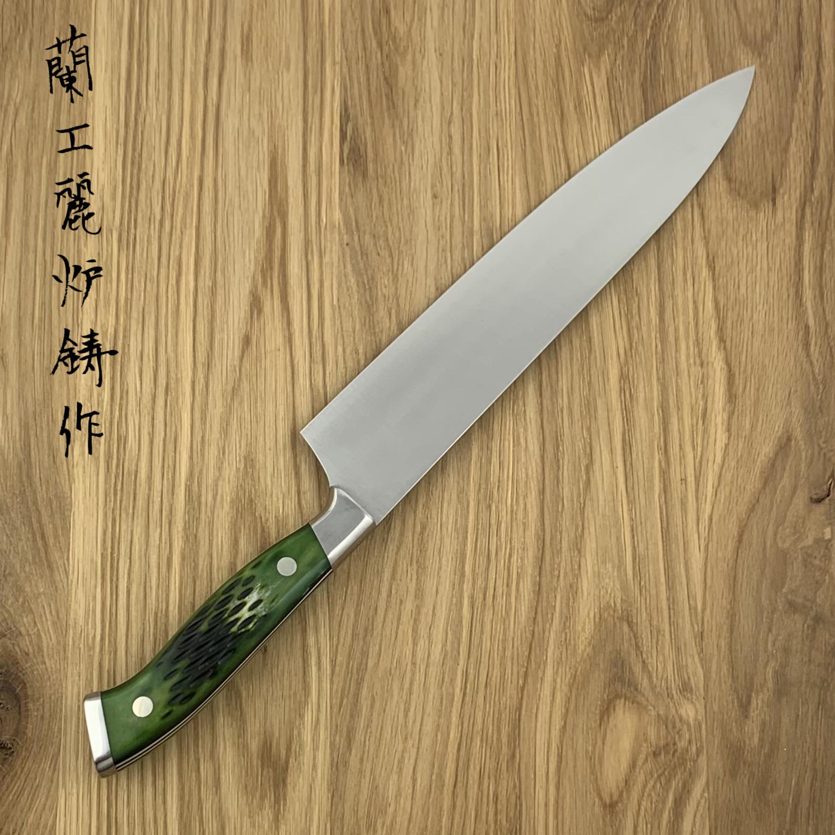 NENOHI NENOX Premium groen gyuto 210 mm