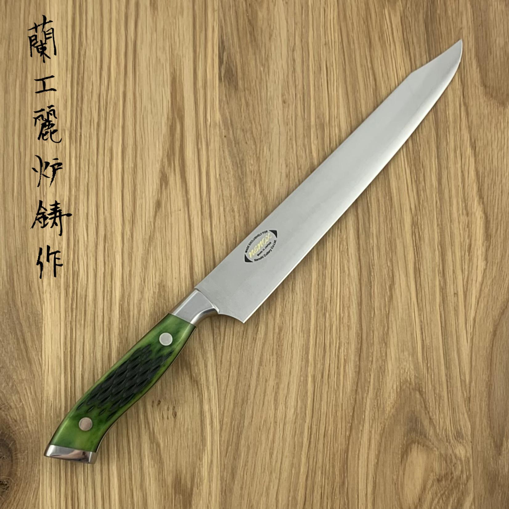 NENOHI NENOX Premium groen sujihiki 210 mm