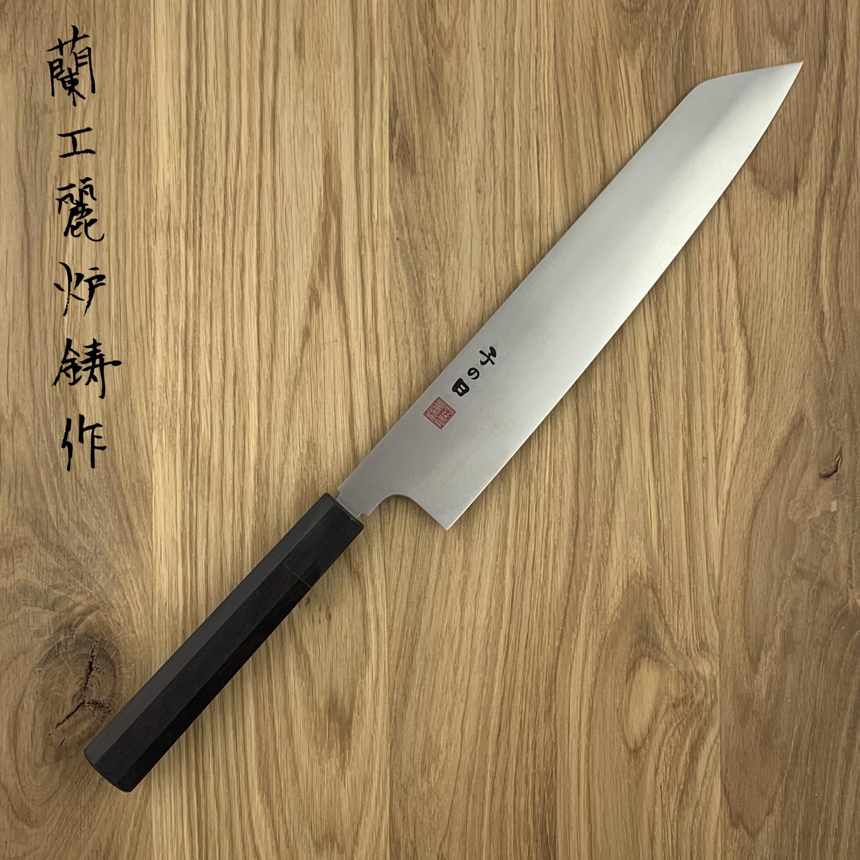 NENOHI double edged Japanese kiritsuke 1.8 mm thick 270 mm octagonal ebony handle