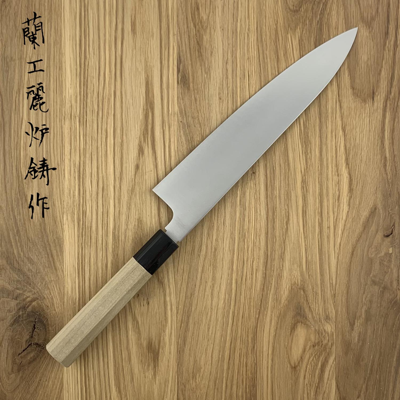 NENOHI double edged Japanese  gyuto 240 mm octagonal magnolia  handle